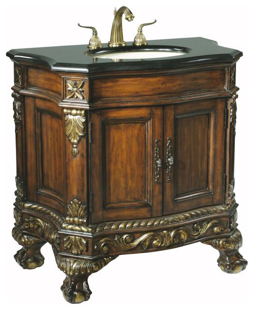 "36"" Granite Ball & Claw Medium Sink Chest Dark traditional-bathroom-vanities-and-sink-consoles"