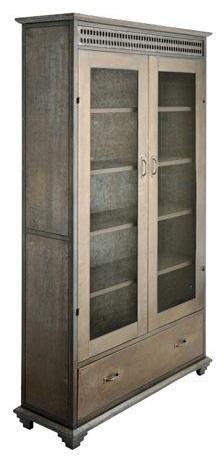 Candelabra Home Zinc Cabinet With Mesh Doors In Antique ...