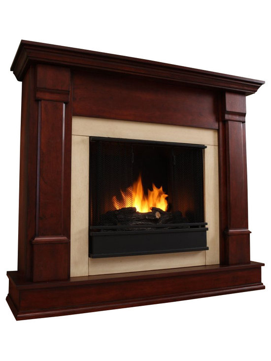Real Flame - Real Flame Silverton Indoor Gel Fireplace in Dark Mahogany - Real Flame - Fireplaces - Curl up by the comforting glow of this Real Flame fireplace anywhere in your home. Ideal for living rooms, family rooms or bedrooms, the free-standing Silverton offers clean lines and transitional styling that will add instant ambiance to any home. Available in white, dark mahogany and black. Uses 13 oz. cans of Real Flame Gel Fuel.