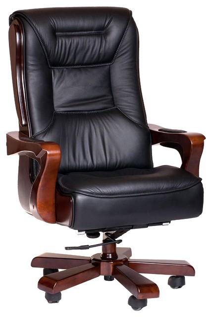 Big Amp Tall Genuine Leather Chair With Armrests Chairli Texas