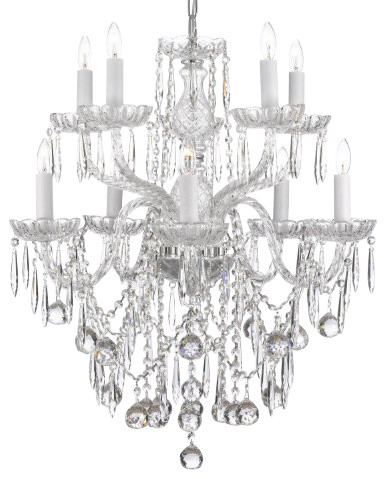 All Crystal chandelier Lighting with 40Mm Crystalalls traditional-chandeliers
