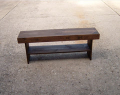 Salvaged Wood Bench by Waynes Woodworking traditional bedroom benches