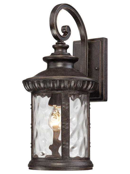 Quoizel - Chimera 1-light Outdoor Bronze Fixture - This traditional outdoor fixture and its sleek glass will surely add flair to your home's exterior. The striking imperial bronze finish works with many styles of decor and is sure to make a statement for years to come.