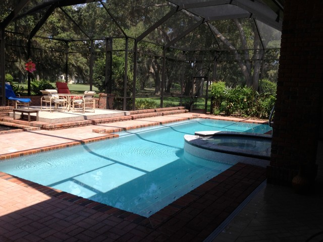 Pool spa screen and new koi pond for Pool with koi