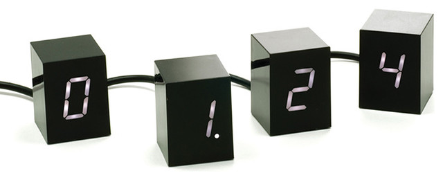 Jonas Damon - Areaware - Numbers LED Clock White modern-clocks