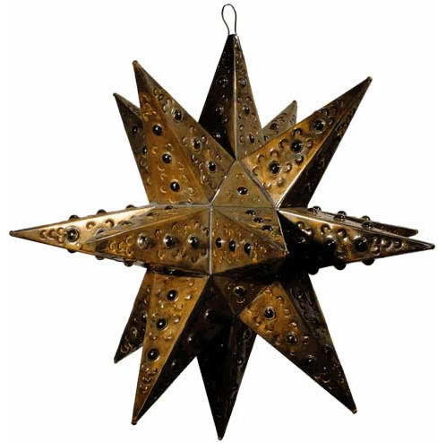 Punched tin stars and glass stars
