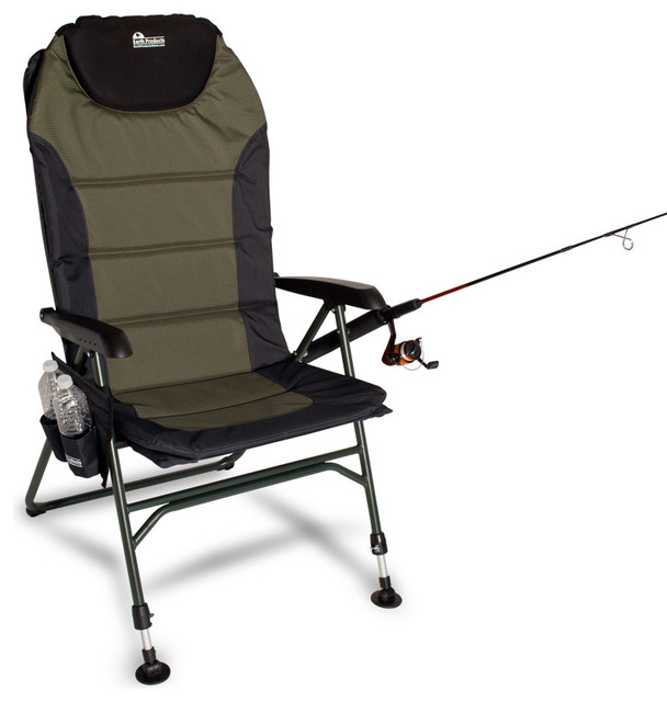 Earth Ultimate 4-Position Outdoor & Fishing Chair W/ New Adjustable Front Legs - Beach Style ...
