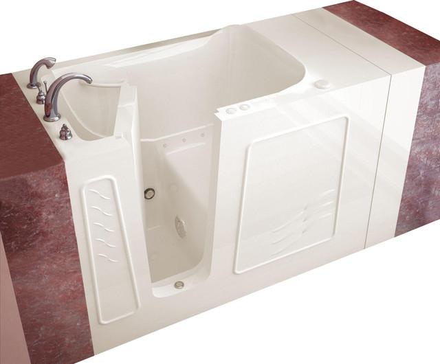 """Meditub 3053 30"""" x 53"""" x 38"""" Gel Coat Hydro Tub modern-bathtubs"""