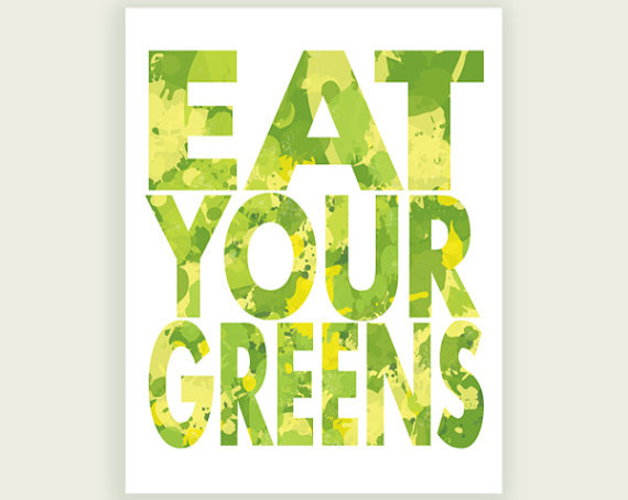 """""""Eat Your Greens"""" Print by ColorBee contemporary-prints-and-posters"""
