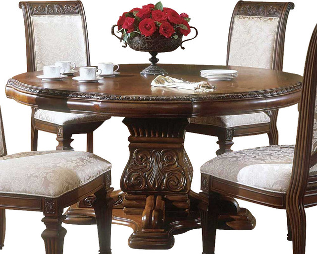 Villagio Round Dining Table Traditional Dining Tables