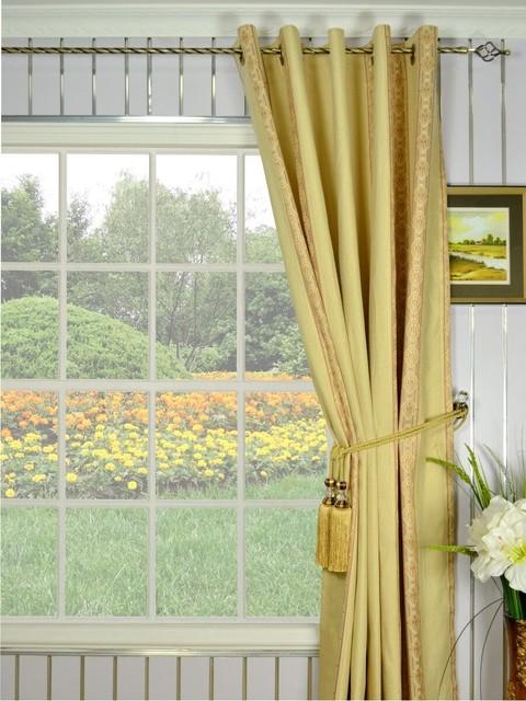 Jaquard Luxurious Eyelet Curtains modern-curtains