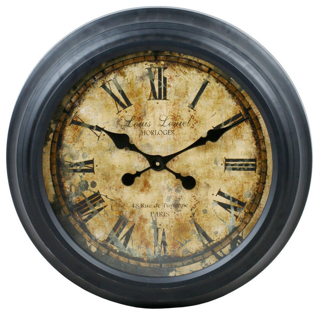 24 Inch Round Vintage Wall Clock Contemporary Clocks