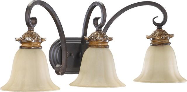 Quorum Lighting Capella Traditional Bathroom / Vanity Light X-44-3-1015 mediterranean-bathroom-vanity-lighting