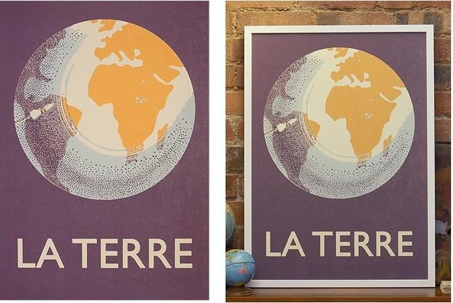 La Terre Print by Double Merrick eclectic-artwork