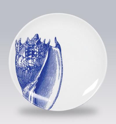 Blue Shells Canape Plates contemporary-serveware