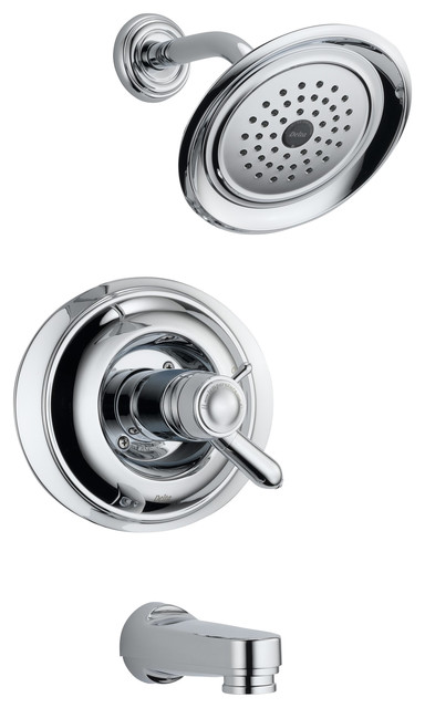 Innovations TempAssure Tub and Shower Trim with Volume Control transitional-showerheads-and-body-sprays