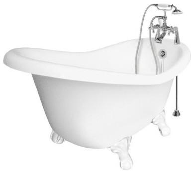 American Bath Factory Ascot 60 Inch Slipper Acrastone