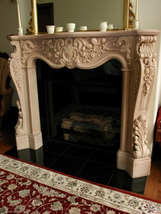 Installations - Hand carved marble mantle