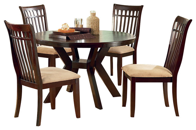 steve silver lexington 5 piece 48 inch round dining room
