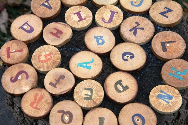 Alphabet Wood Set by The Woodlot eclectic kids toys