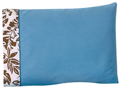 Surf Blue and Brown Children's Sheet Set Queen (4-Piece) contemporary-kids-bedding