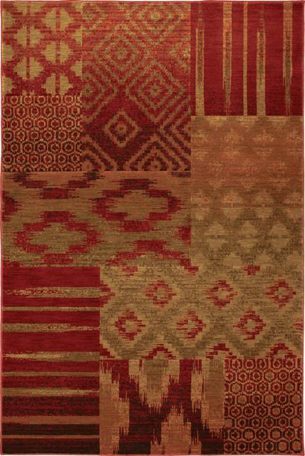 "Karastan Carmel 74700-13122 2'11"" x 4'8"" Cypress Point Crimson Rug contemporary-rugs"