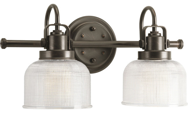 Bathroom Vanity Lights Industrial : Progress Lighting P2991-74 2-Light Bathroom Lighting Fixture - Industrial - Bathroom Vanity ...