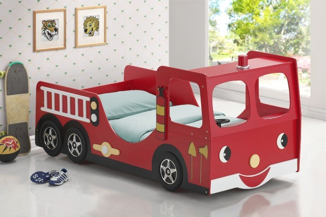 Truck Beds For Boys : Good trading contemporary red wood kid boys twin fire