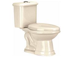Toilets Bone Laurier Dual Flush Toilet Elongated | 13728 transitional-toilets