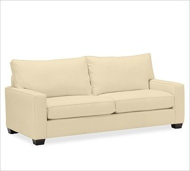 PB Comfort Square Upholstered Grand Sofa, Polyester Wrap Cushions, Washed Linen- traditional-sofas