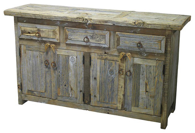 Kitchen Buffet Table : Barnwood Buffet rustic buffets and sideboards