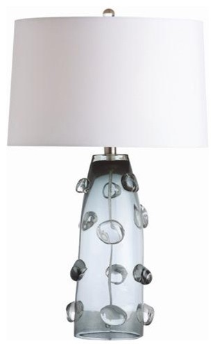 Arteriors Poppy Tall Gray Glass Lamp traditional-table-lamps
