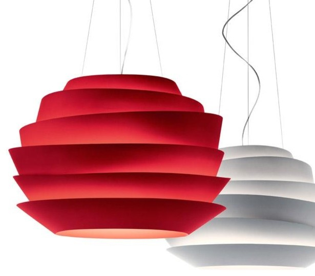 Le Soleil Hanging Lamp, Red modern pendant lighting