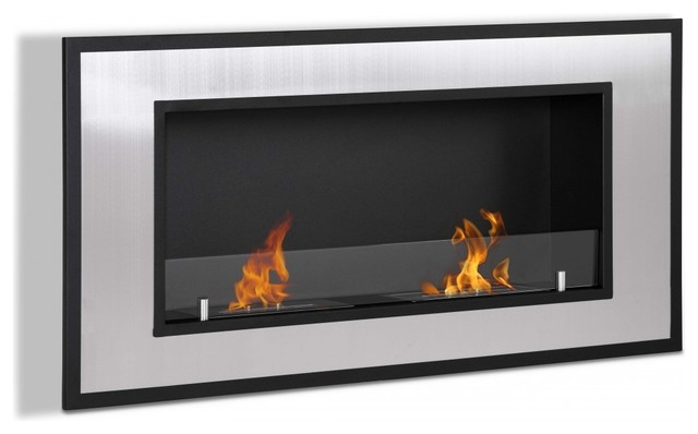 Bellezza Wall Mounted / Recessed Ventless Bio Ethanol Fireplace modern-indoor-fireplaces