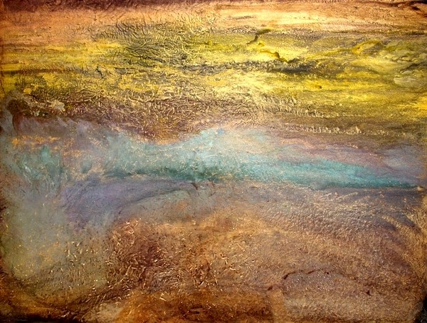 Large Wall Art Original Abstract Landscape Painting, Contemporary Artwork SERENI traditional-artwork
