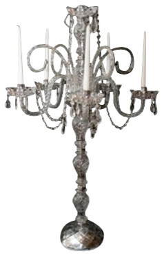 Set of 10 Wedding Candelabra Centerpieces - Set of 10 traditional-candleholders