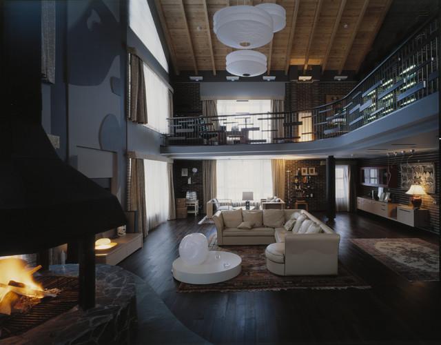 Pozdniakovo Interiour contemporary-family-room