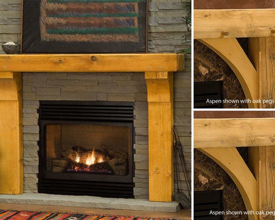 Gallatin Timber Wood Fireplace Mantel -