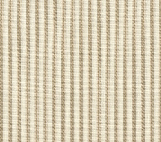 84 Shower Curtain Lined Linen Beige Ticking Stripe Traditional Sh