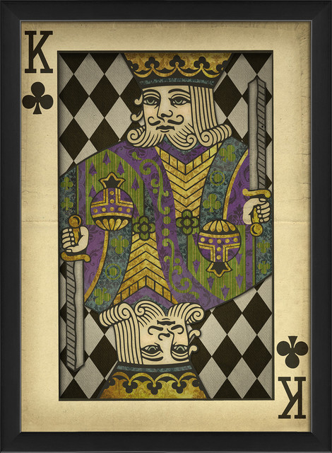 'King of Clubs' Print contemporary-prints-and-posters