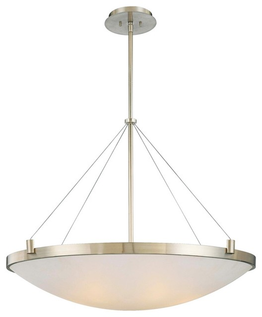 """George Kovacs Frosted Glass 34 1/2"""" Wide Pendant Light contemporary-chandeliers"""