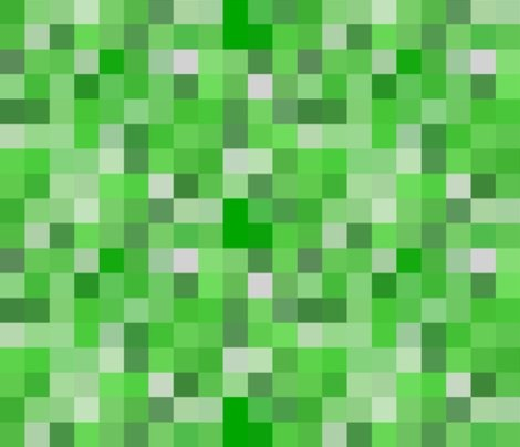 Minecraft creeper fabric eclectic fabric by spoonflower for Minecraft fabric by the yard