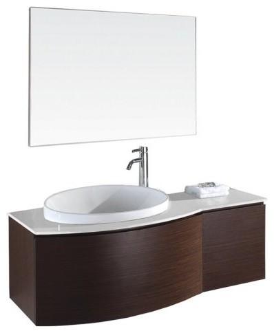 Wyndham Collection Athena 47.25-in. Ironwood Single Bathroom Vanity Set modern-bathroom-vanities-and-sink-consoles