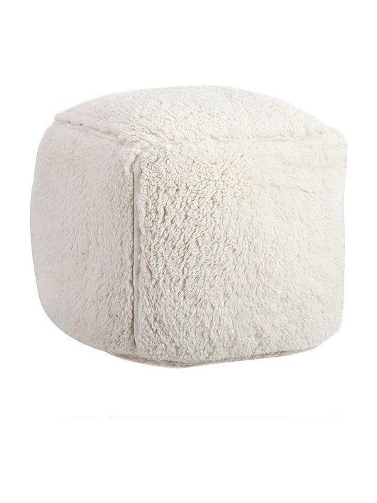 Cream Sherpa Anywhere Bean Cube -