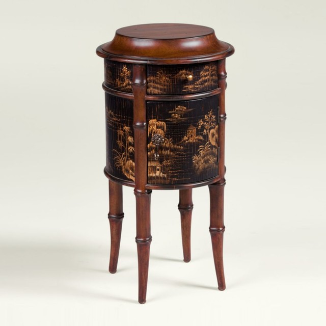Collectors classics chinoiserie round accent table - Traditional - Side Tables And End Tables ...
