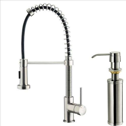 VIGO VG02001STK2 Stainless Kitchen Faucet traditional-kitchen-faucets
