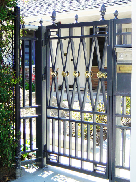 steel gates traditional los angeles by vik iron designs
