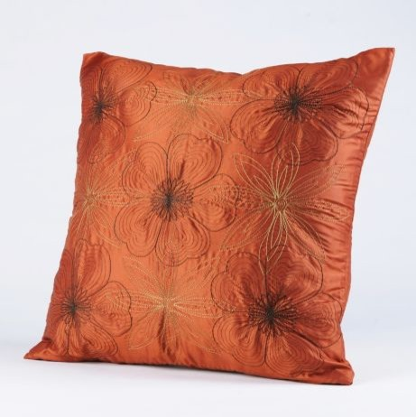 Floral Stitch Work Pillow traditional pillows