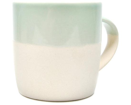 Pastel Dipped Mug, Seafoam -