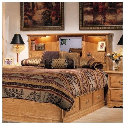 Country Heirloom Storage Panel Bed modern-beds